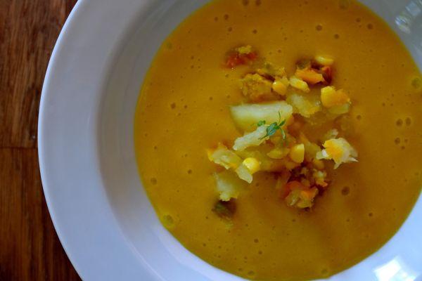 Lahodná mrkvová polievka |