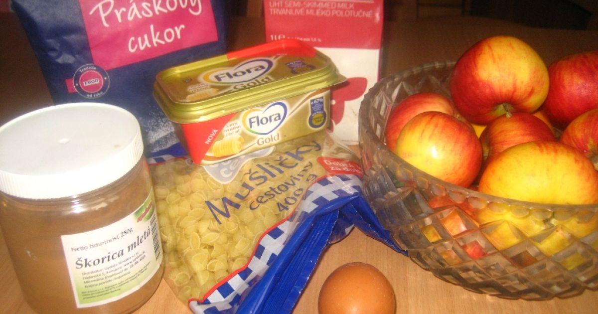 Sladké zapekané cestoviny s jablkami, fotogaléria 2 / 6.