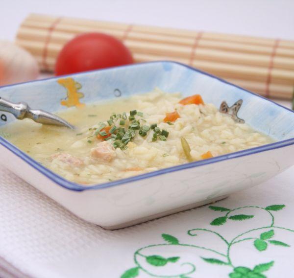 Krémová ryžová polievka |