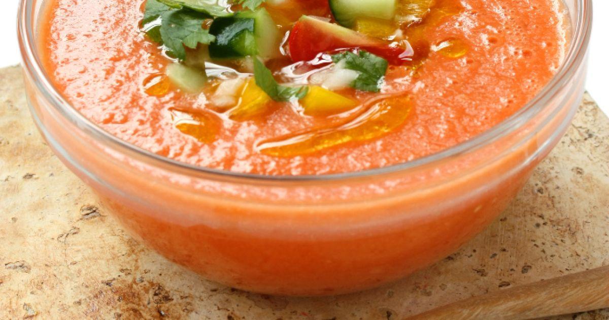 Španielska studená polievka  gazpacho, fotogaléria 1 / 1.