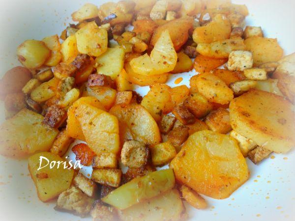 Opekané zemiaky s tofu |