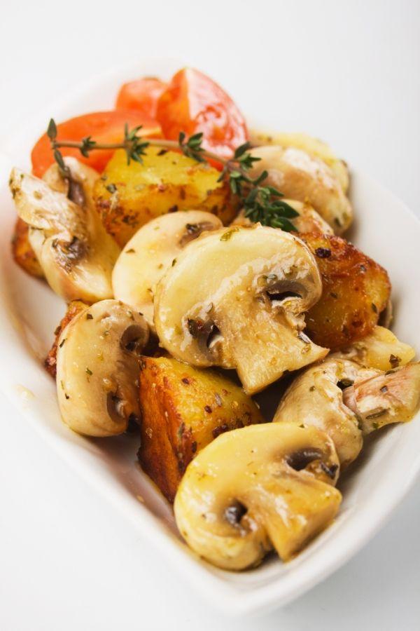 Pečené zemiaky s hubami |
