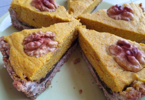 Hokkaido koláč z orechovo-vločkového cesta ...