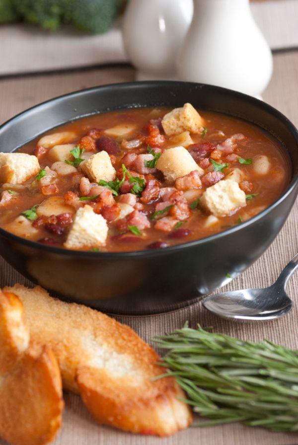 Pikantná fazuľová polievka |