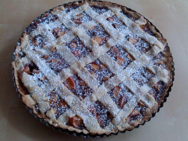 Jablečný linecký koláč |