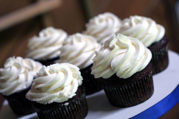 Brownies cupcakes s tvarohovým krémom |