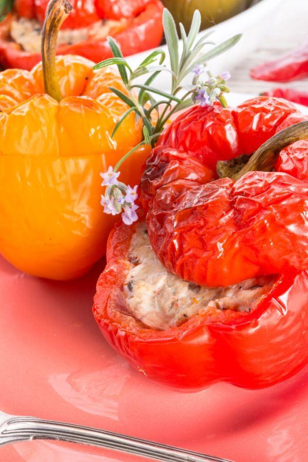 Pečená paprika s bryndzou |