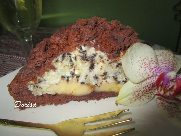 Krtkova torta s pudingom a tvarohom |