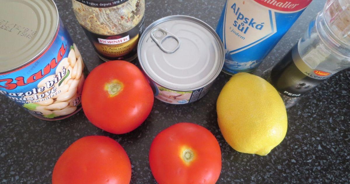 Fazuľovo-tuniakový šalát s paradajkami, fotogaléria 2 / 4.