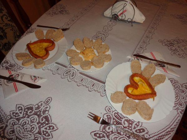 Raňajky v tvare srdiečka |