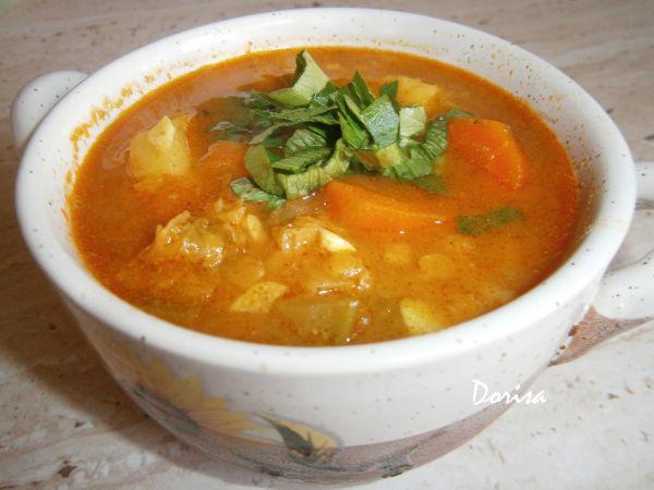 Indická polievka z červenej šošovice |
