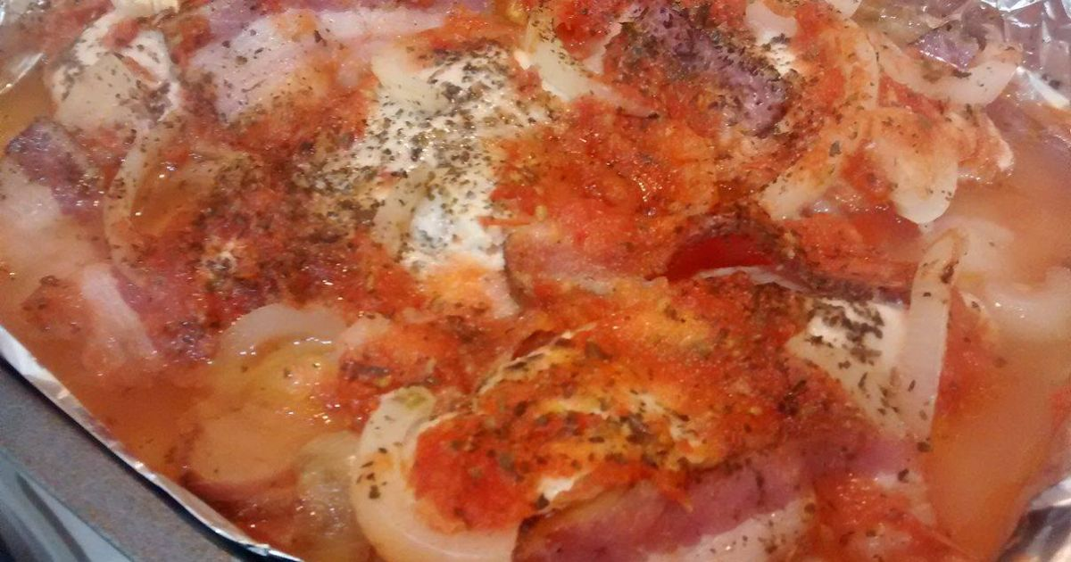 Zapekané kuracie prsia so slaninou a cibuľou, fotogaléria 2 / 2.