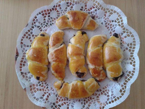 Domáce nutelové croissanty |