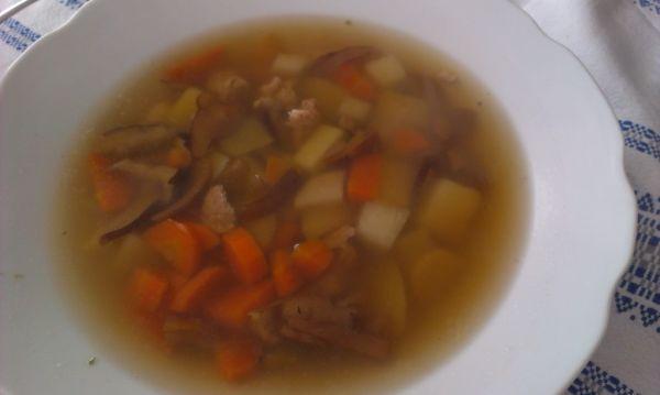 Hubová polievka s kuracinkou |