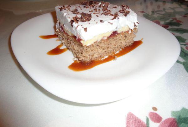 Šľahačkovo-tvarohový koláč |