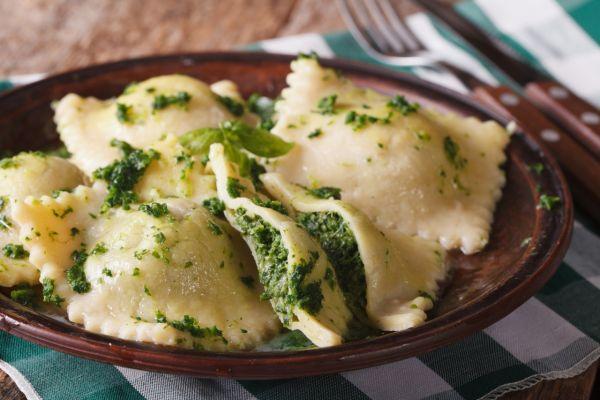 Ravioli s kozím syrom a špenátom |