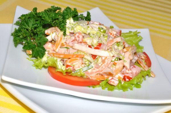 Zeleninový šalát s tvarohom |