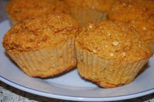 Mrkvovo-fazuľové muffiny |