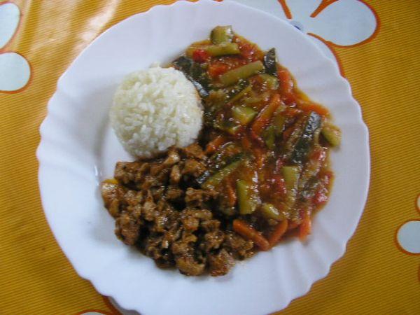 Kuracie mäsko so zeleninou |