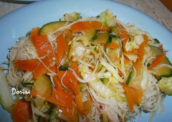 Ryžové rezance so zeleninou |