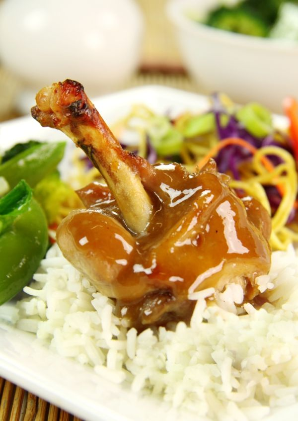 Pečené kurča s medom  