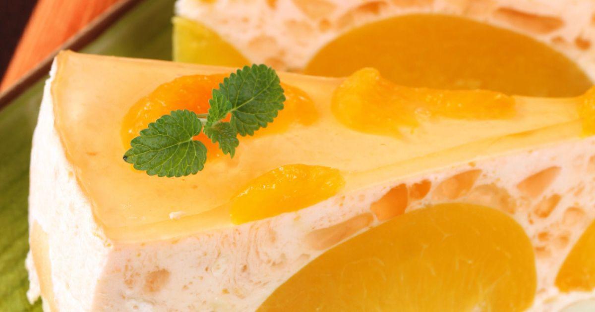 Nepečená broskyňová torta s mascarpone, fotogaléria 1 / 1.