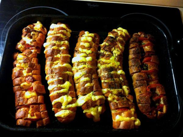 Zapekané pizza bagety |