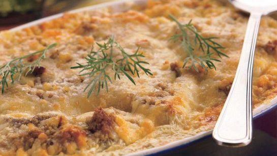 Fašírka pečená na zemiakoch |