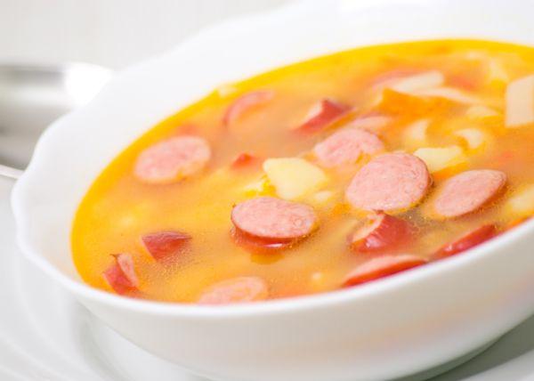 Párková polievka so zemiakmi |
