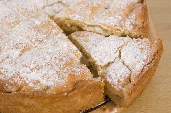 Jablkový koláč s pudingovou plnkou |