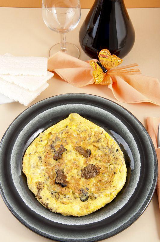 Omeleta s údenou makrelou |