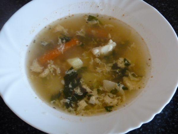 Vajíčková zeleninová polievka |