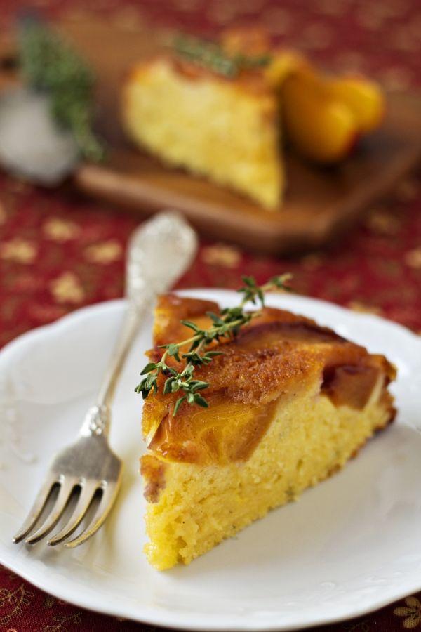 Obrátený koláč s broskyňami |