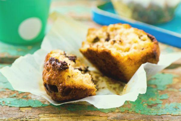 Chutné banánové muffiny s kúskami čokolády |