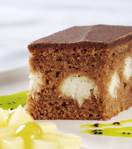 Kakaový koláč s tvarohom |