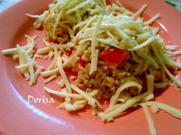 Zeleninové rizoto z celozrnnej ryže. |