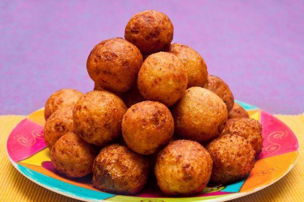 Vyprážané zemiakové guľky |