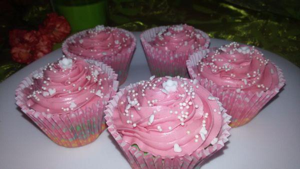 Ružové cupcakes |