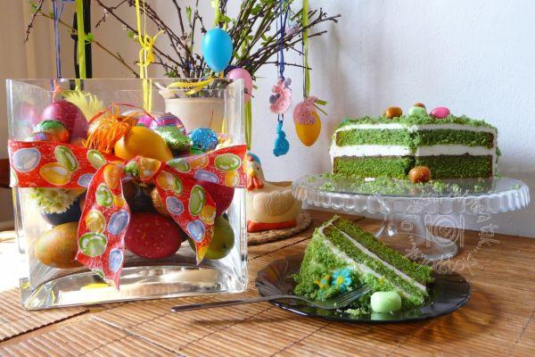 Veľkonočná zelená torta |