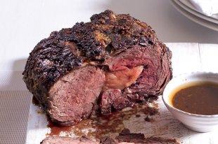Rib-eye steak s bylinkovým máslem