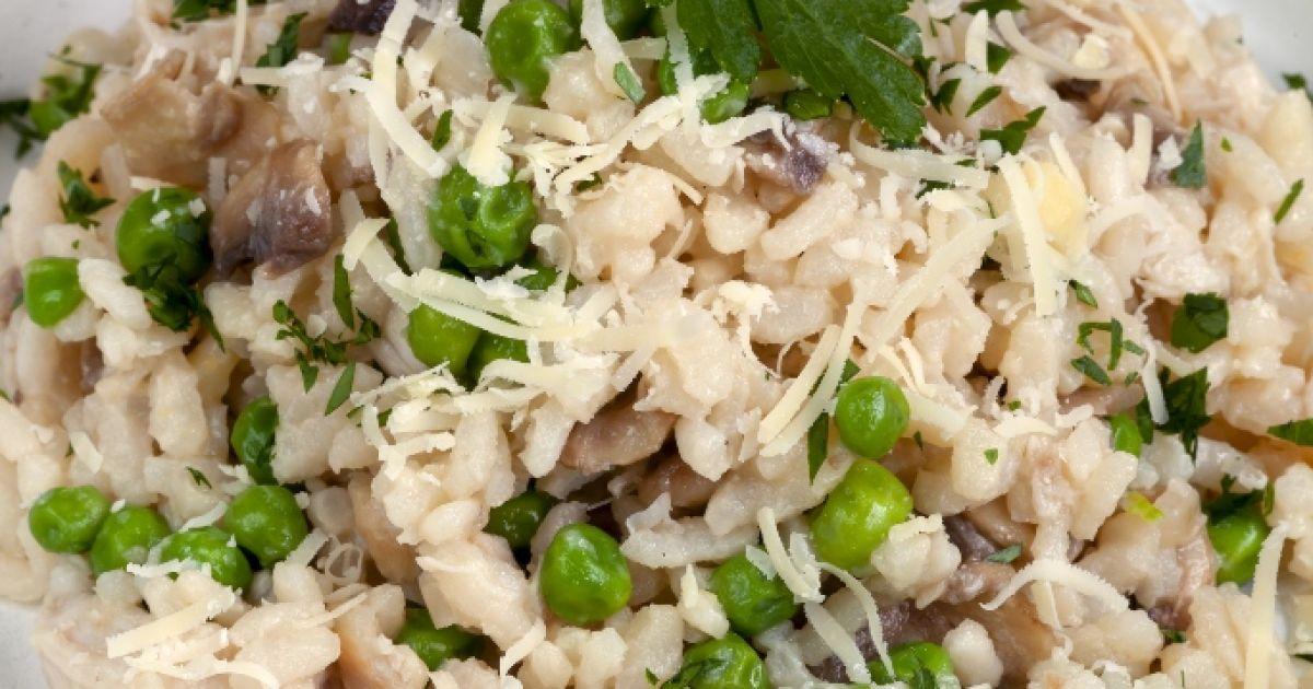 Kuracie rizoto s hubami a hráškom, fotogaléria 1 / 1.