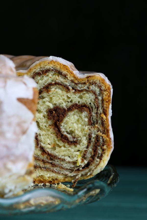 Kysnutý koláč s pudingovou plnkou  