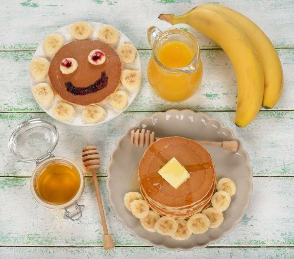 Celozrnné banánové lievance |