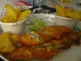 Anglická vyprážaná ryba s hranolkami  fish and chips
