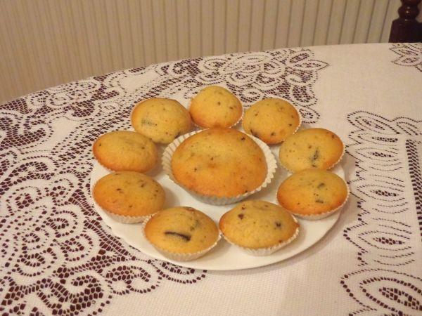 Muffins s kúskami čokolády |