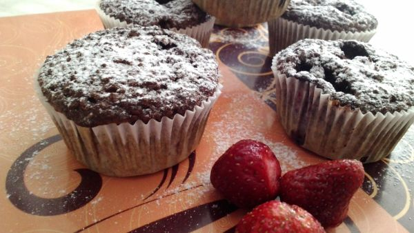 Zdravé kakaové muffinky |