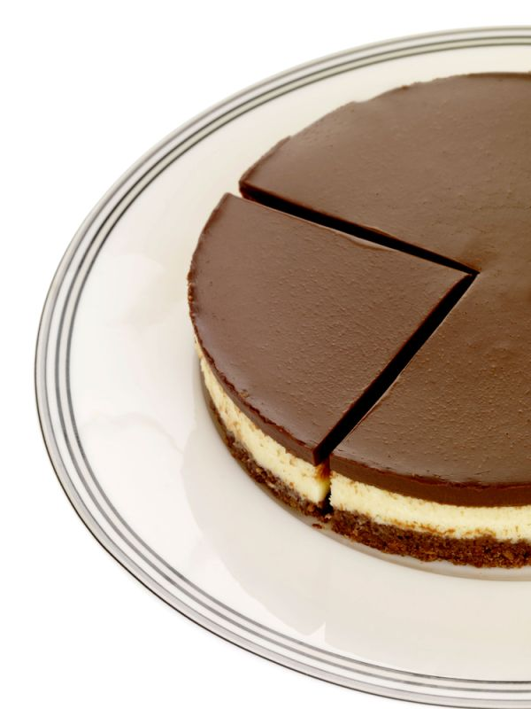 Dvojfarebný čokoládový cheesecake |
