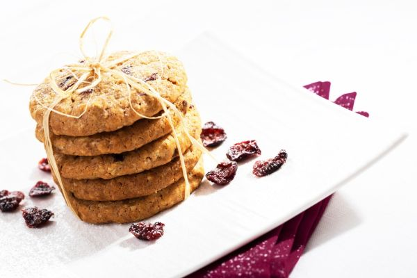 Ovsené cookies s brusnicami |