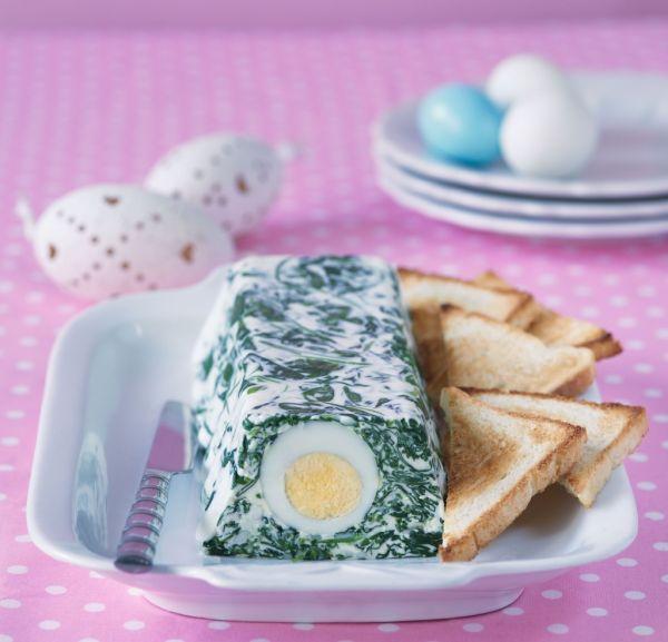Vaječná tlačenka so špenátom |