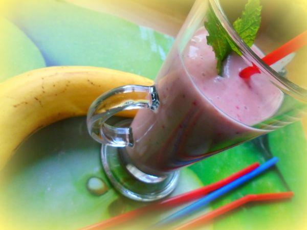 Banánovo-jahodové smoothie |